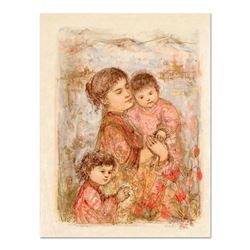 Lorelei and Children by Hibel (1917-2014)