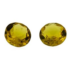 2.22 ctw.Natural Round Cut Citrine Quartz Parcel of Two