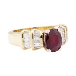 4.19 ctw Ruby And Diamond Ring - 14KT Yellow Gold