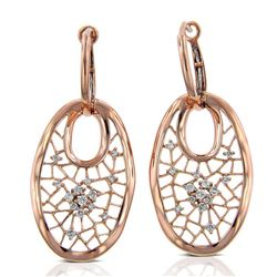 14k Rose Gold  0.31CTW Diamond Earrings