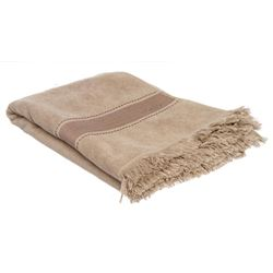Hermes Gray Terry Cloth Yachting Large Towel