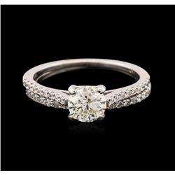 14-18KT White Gold 1.08 ctw Diamond Wedding Ring Set