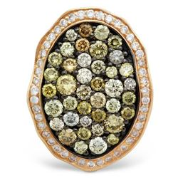 14k Rose Gold 1.21CTW Diamond and Multicolor Dia Pendant, (I1/I)