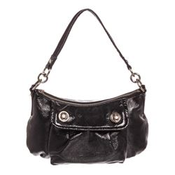 Coach Black Liquid Gloss Patent Leather Crossbody Bag