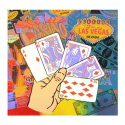 Royal Flush by Steve Kaufman (1960-2010)