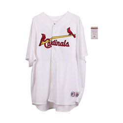 St. Luis Cardinals Lou Brock Autographed Jersey