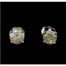 14KT White Gold 1.16 ctw Diamond Stud Earrings