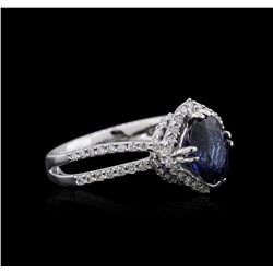 18KT White Gold 2.08 ctw Sapphire and Diamond Ring