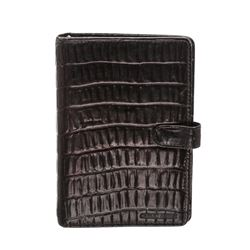 Giorgio Armani Brown Leather Embossed Agenda Notebook