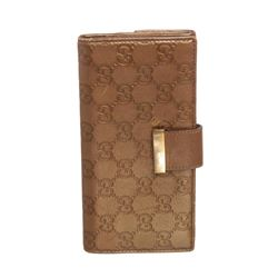 Gucci Metallic Gold Guccissima Leather Long Wallet