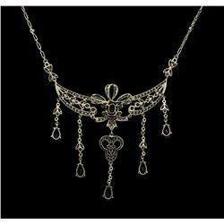 2.55 ctw Sapphire and Diamond Necklace - 18KT White Gold