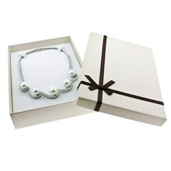 Platinum 10.25 ctw Diamond & Floating South Sea Pearl Statement Necklace