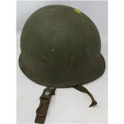 MILITARY HELMET (UNKNOWN ORIGIN) *HAS REMOVABLE LINER*
