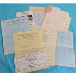 LOT OF ASSORTED BUSINESS LETTERS, PRICE LISTS AND LETTER GUIDE (VINTAGE) *1928-1929-1931-1935 THE HU