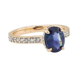 1.86 ctw Sapphire and Diamond Ring - 18KT Rose Gold