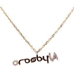 "0.10 ctw Diamond ""crosbyLA"" Pendant with Chain - 14KT Rose Gold"