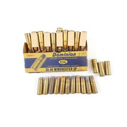 38-40 AMMO, 3 BRASS CASES