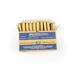 CIL .25-35 SOFT POINT, HIGH VELOCITY AMMO