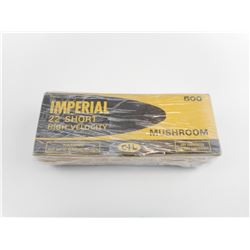 "IMPERIAL 22 SHORT HIGH VELOCITY GOLD BOX ""MUSHROOM"" AMMO"