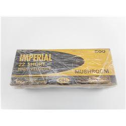 "IMPERIAL 22 SHORT HIGH VELOCITY GOLD BOX ""MUSHROOM"" AMMO"