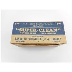 CIL 22 LONG RIFLE SUPER CLEAN AMMO, VINTAGE