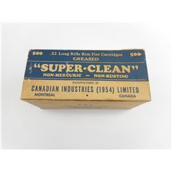 CIL 22 LONG RIFLE SUPER CLEAN AMMO, IN VINTAGE BOXES