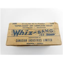 CIL WHIZ BANG 22 LONG RIFLE AMMO, IN VINTAGE BOX