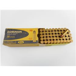 DOMINION .38 SPECIAL AMMO