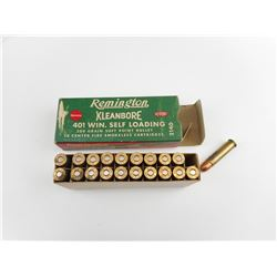 REMINGTON KLEANBORE 401 WIN SELF LOADING AMMO