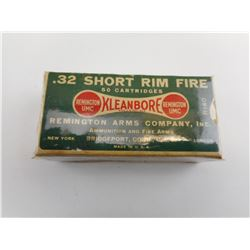 REMINGTON .32 SHORT RIM FIRE AMMO