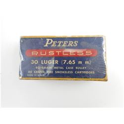 PETERS 30 LUGER AMMO