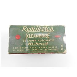 REMINGTON KLEANBORE 38 SUPER AUTOMATIC AMMO