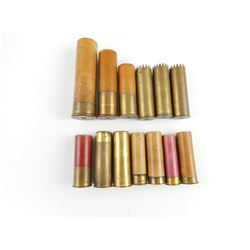 COLLECTIBLE SHOTSHELLS, AND BRASS EMPTY SHELLS