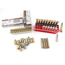 .303 BRITISH AMMO, BRASS CASES, 45 + P AND 45 ACP, 38-55 AMMO