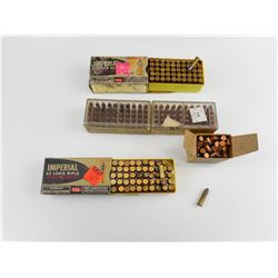 22 LONG RIFLE ASSORTED AMMO, 22 RIM FIRE B.B. CAPS