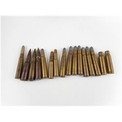 LONG RIFLE AMMO, ASSORTED,, DATED 1917