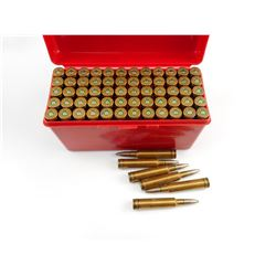NORMA 7 X 62 AMMO, IN PLASTIC AMMO BOX