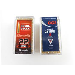 HORNADY AND CCI V-MAX 22 WMR/22 MAG AMMO