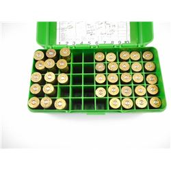 45-70 RELOADED AMMO, BRASS CASES, IN MTM AMMO CASE