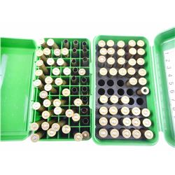 8.15 X 46 RELOADED AMMO, BRASS CASES, IN PLASTIC AMMO BOXES