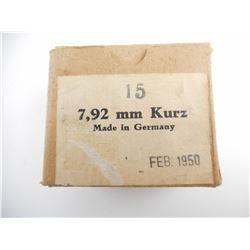 7.92 MM KURZ AMMO