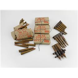 .303 BRITISH MILITARY AMMO, STRPPER CLIPS, LINKS, .303 INCH AMMO