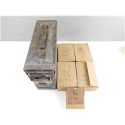 .303 INCH MK 7, .303 BRITISH ASSORTED AMMO, IN METAL AMMO TIN