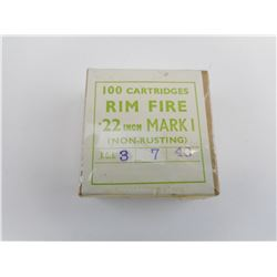 BRITISH MILITARY 22 LONG RIFLE MKI AMMO