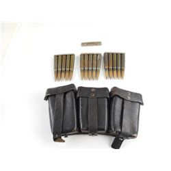 WWII GERMAN 7.92 MM AMMO AND POUCH