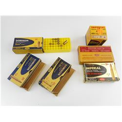 BRASS CASES ASSORTED, COLLECTIBLE AMMO BOXES