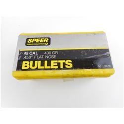SPEER .45 CAL BULLETS