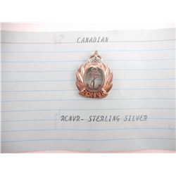 CANADIAN RCNVR STERLING SILVER PIN