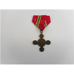 ROYAL MEDAL CROSS FOR BULGARIAN INDEPENDENCE, WITH RIBBON