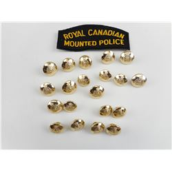 ROYAL CANADIAN MOUNTED POLICE FLASH AND BUTTONS